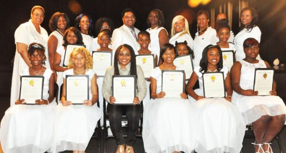 100 White Dresses hosts completion ceremony