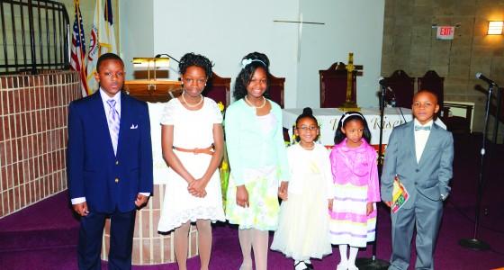 Calvary Baptist Church Resurrection Sunday youth participants
