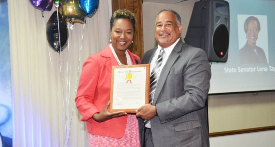 Pastor Calhoun, III honored by State Senator Lena Taylor