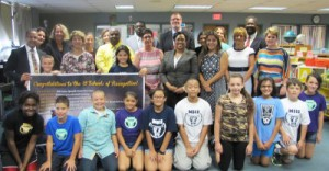 Winning principals and students from Milwaukee Spanish Immersion School join MPS Acting Superintendent Dr. Darienne Driver and MPS Title I Coordinator Martha Kreitzman in honoring MPS' 2014-15 Wisconsin Title I Schools of Recognition.