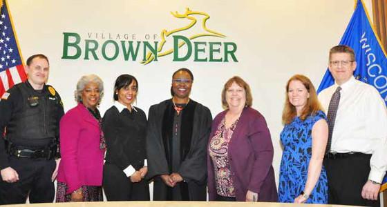 Two African American women sworn in Village of Brown Deer as board members