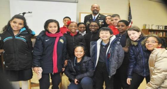 Sheriff Clarke helps celebrate  National Catholic Schools Week