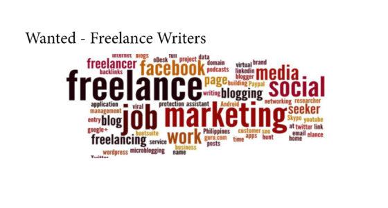 Wanted – Freelance Writers