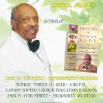 Meet Dr. Lester L. Carter, Jr, R.PH., Author of Healing the Human Body, on March 11