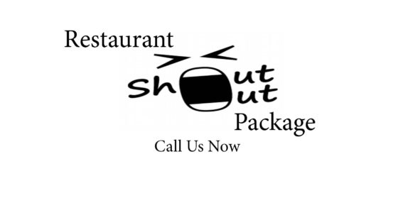 Restaurant Shout Out Package