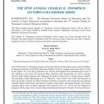 The 37th Annual Charles H. Thompson Lecture-Colloquium