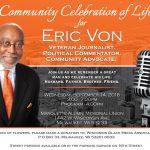Community celebration of life planned for Veteran Journalist Eric Von
