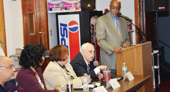 Candidates for School Board of Governance meet the voters in public forum at St. Matthew CME Church