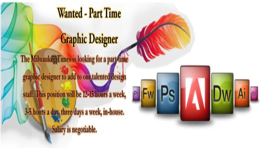 Wanted – Part Time Graphic Designer